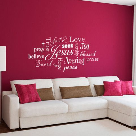 Wall Above Bed Bedroom Ideas Pinterest Christian Wall Decals - Wall decals above bed