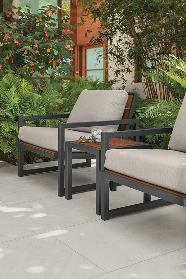 Room & Board –  Montego Outdoor Lounge Chairs with Cushions – Modern Outdoor Chairs & Chaises – Modern Outdoor Furniture