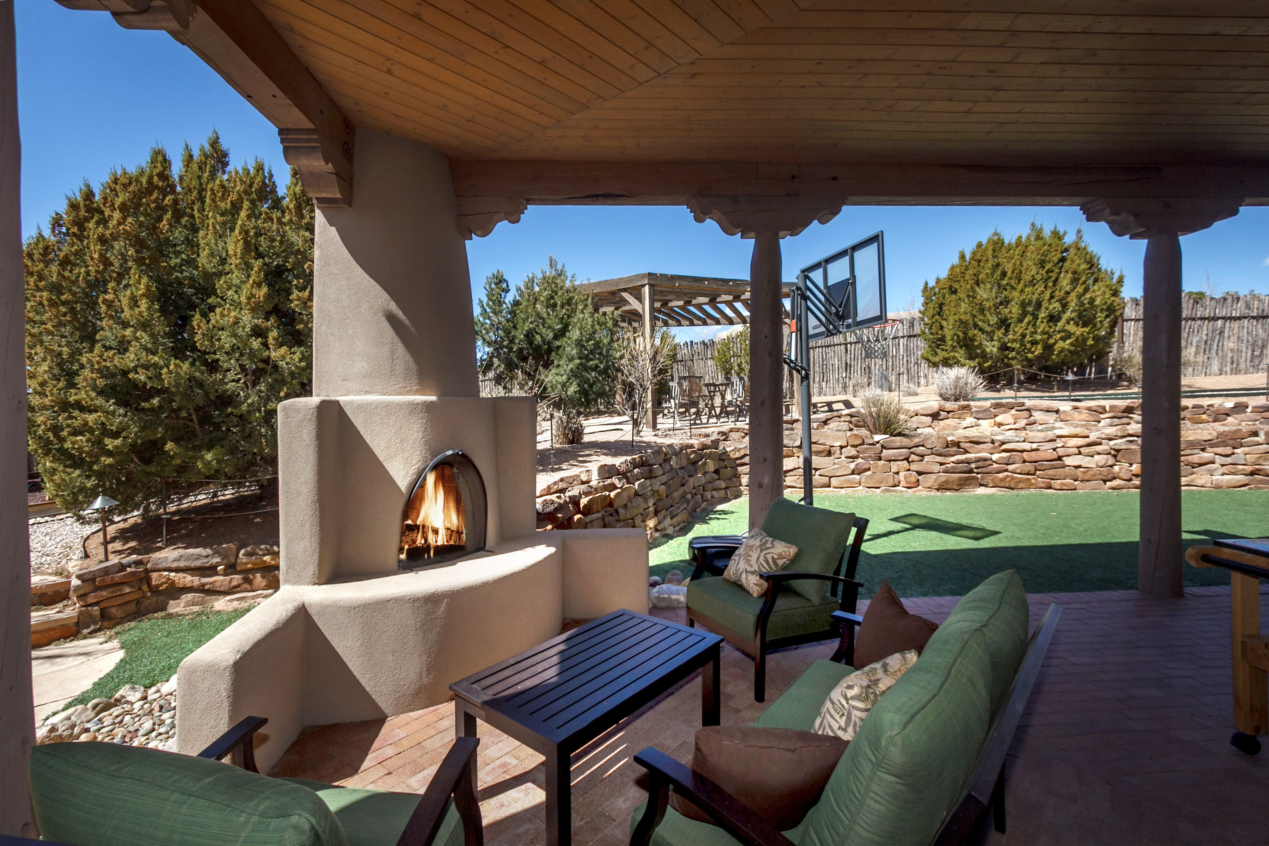 santa fe real estate outdoor fireplace homes in santa fe 6