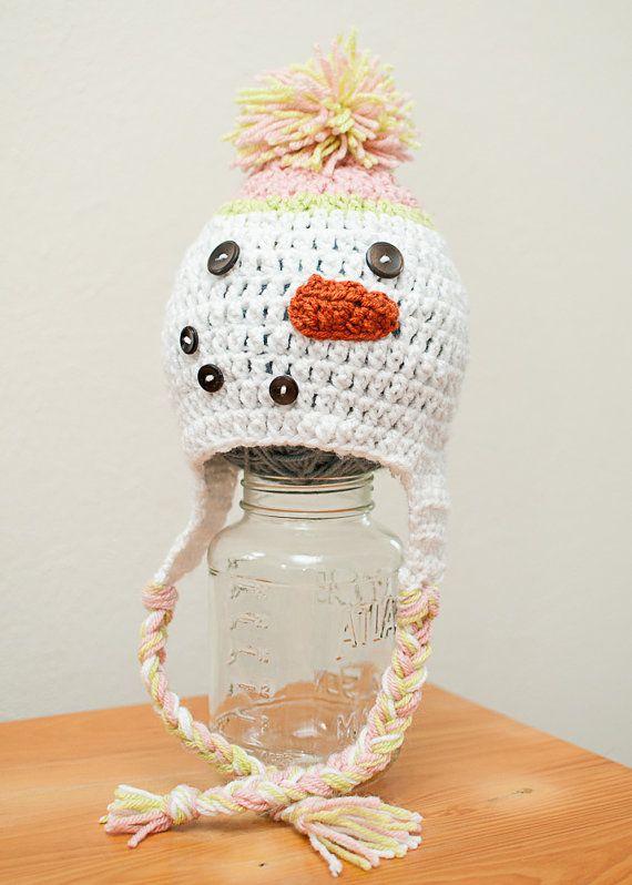 Adorable crochet snowman hat | head gear | Pinterest | Gorros ...