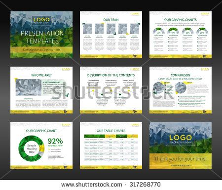templates for presentation slides and business brochures. layout, Low Poly Business Presentation Template, Presentation templates