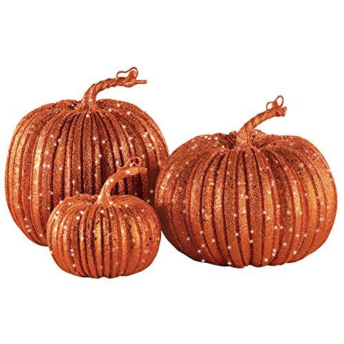 Harvest Pumpkins Fall Decorations - Set of 3 Collections Etc\u2026 Fall