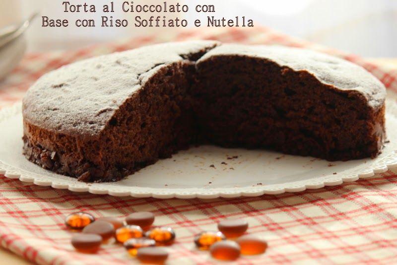 Un giorno senza fretta: Torta al cioccolato con base di riso soffiato e Nutella http://giornisenzafretta.blogspot.it/2014/11/torta-al-cioccolato-con-base-di-riso.html