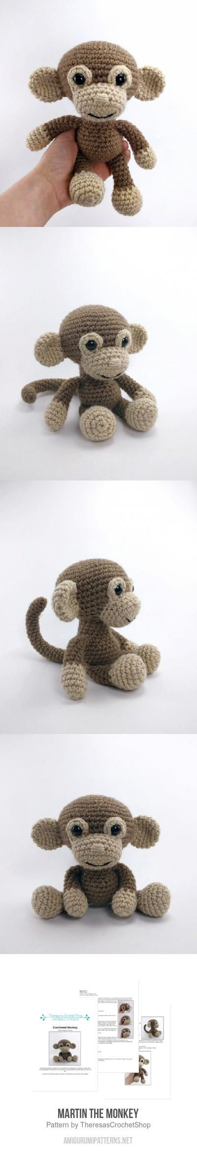 Martin the Monkey amigurumi pattern by Theresas Crochet Shop ...