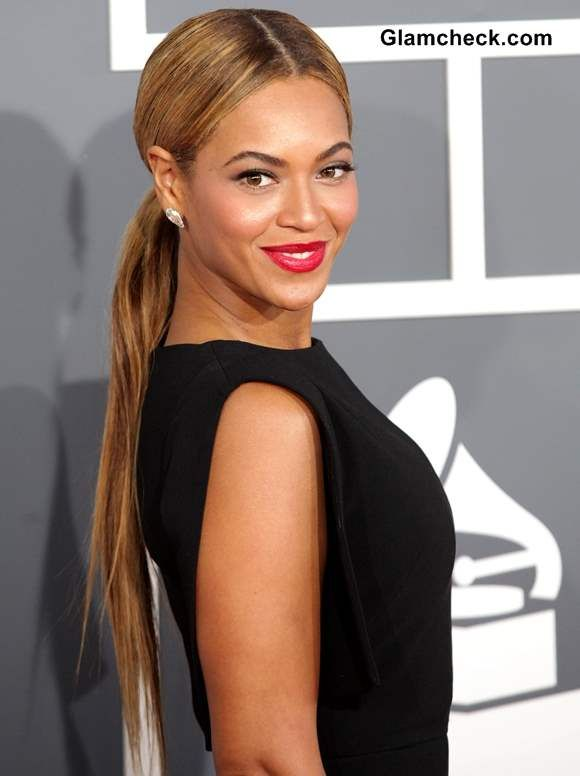 beyonce classy ponytail hairstyle