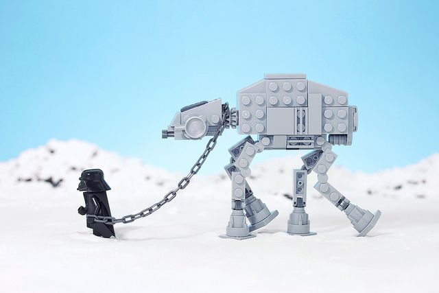 Taking out AT-AT for a walk... on the dark side :)