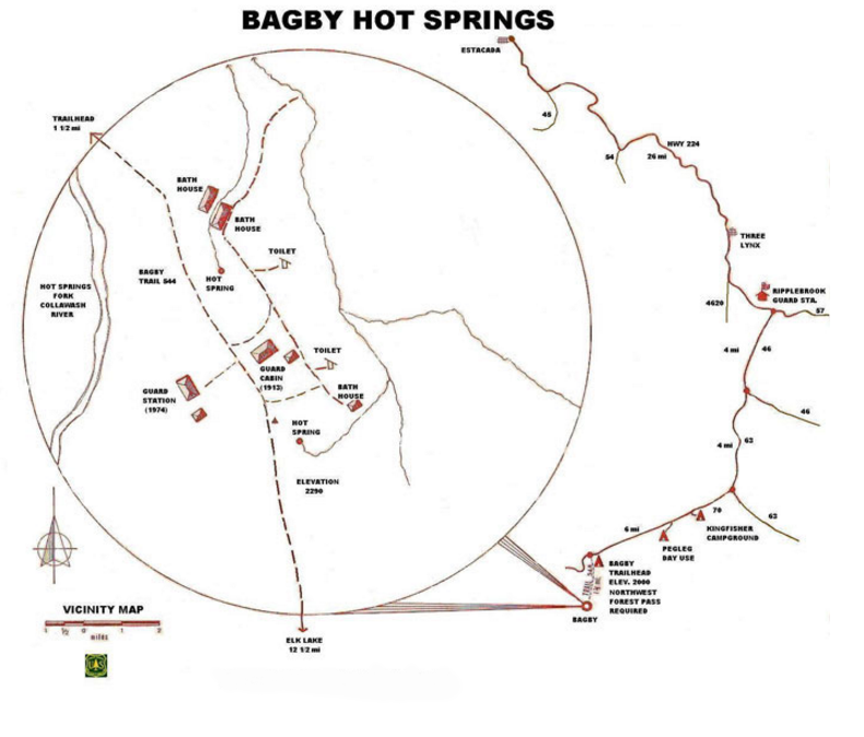 Map of Bagby Hotsprings Go Here