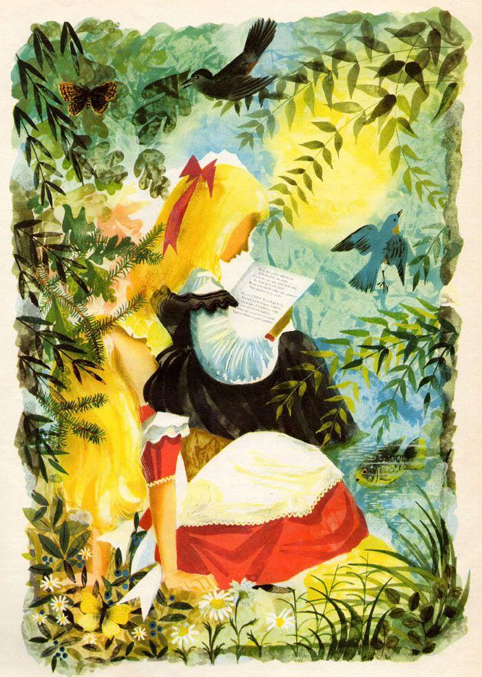 Leonard Weisgard S Stunning 1949 Alice In Wonderland Illustrations