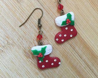 Weihnachten Ohrringe | Weihnachts Strumpf Ohrringe | Socken Ohrringe |  Christmas Party Ohrringe | Ohrringe