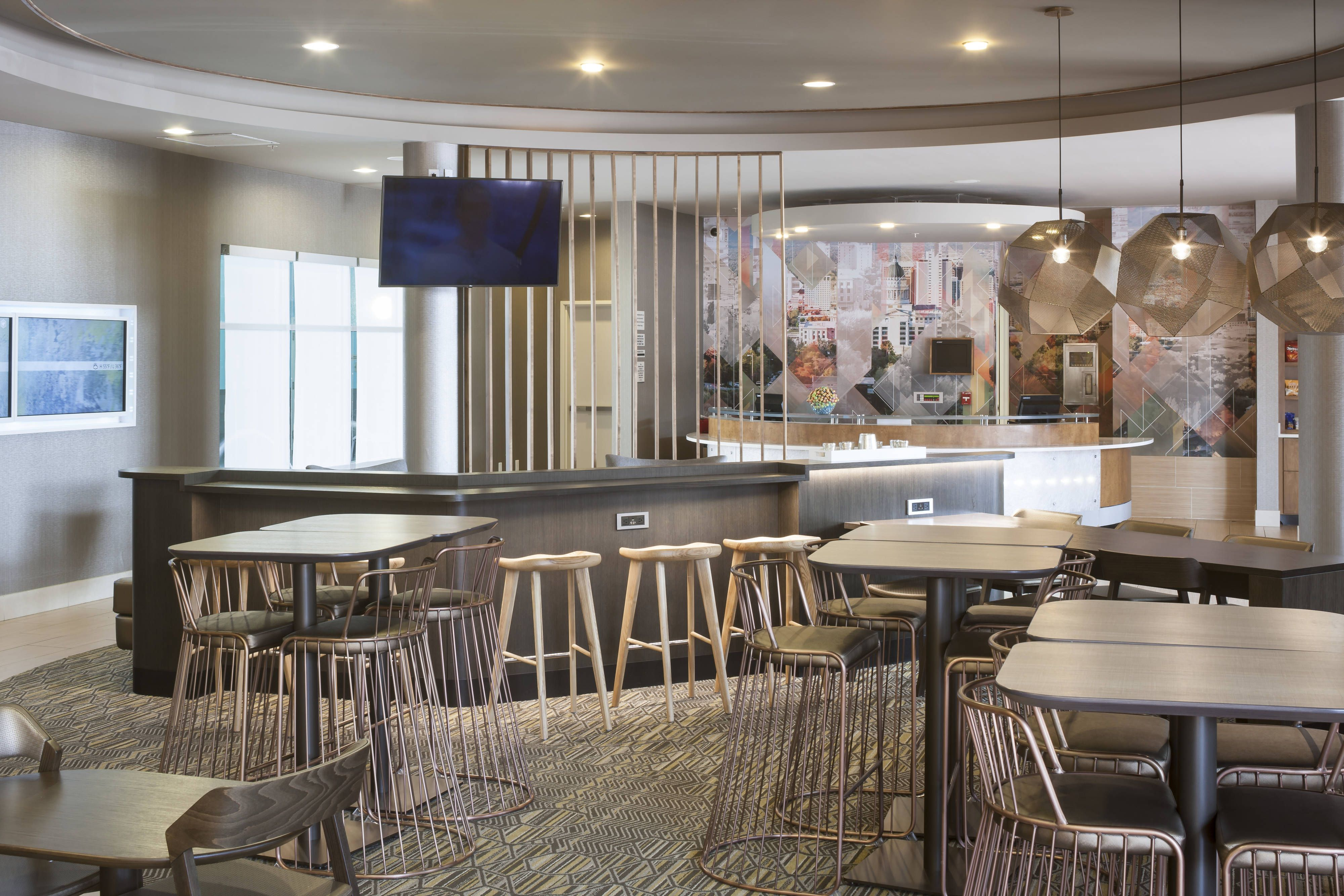 Springhill suites salt lake city airport lobby travel holiday