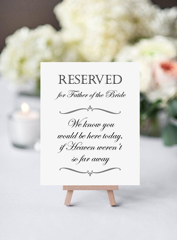 In memory wedding shabby vintage chic table sign FREE STAND gift Bride