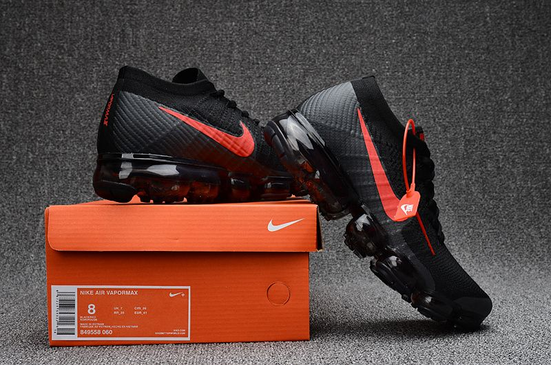 check out 5c79e 914ba Nike Air VaporMax Flyknit Black Red | Nike Vapormax Flyknit ...