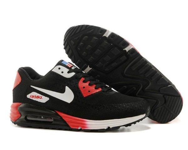 Mens Nike Air Max 90 Shoes Black Red 6809331 364 | Air max