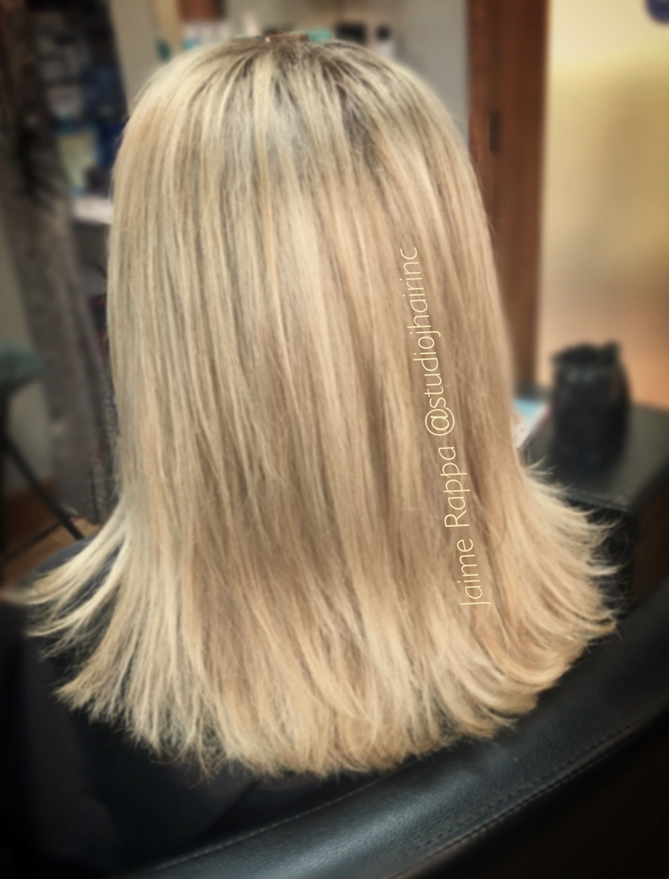 Another Blonde Bombshell Babylights Root Touch Up And Glaze With