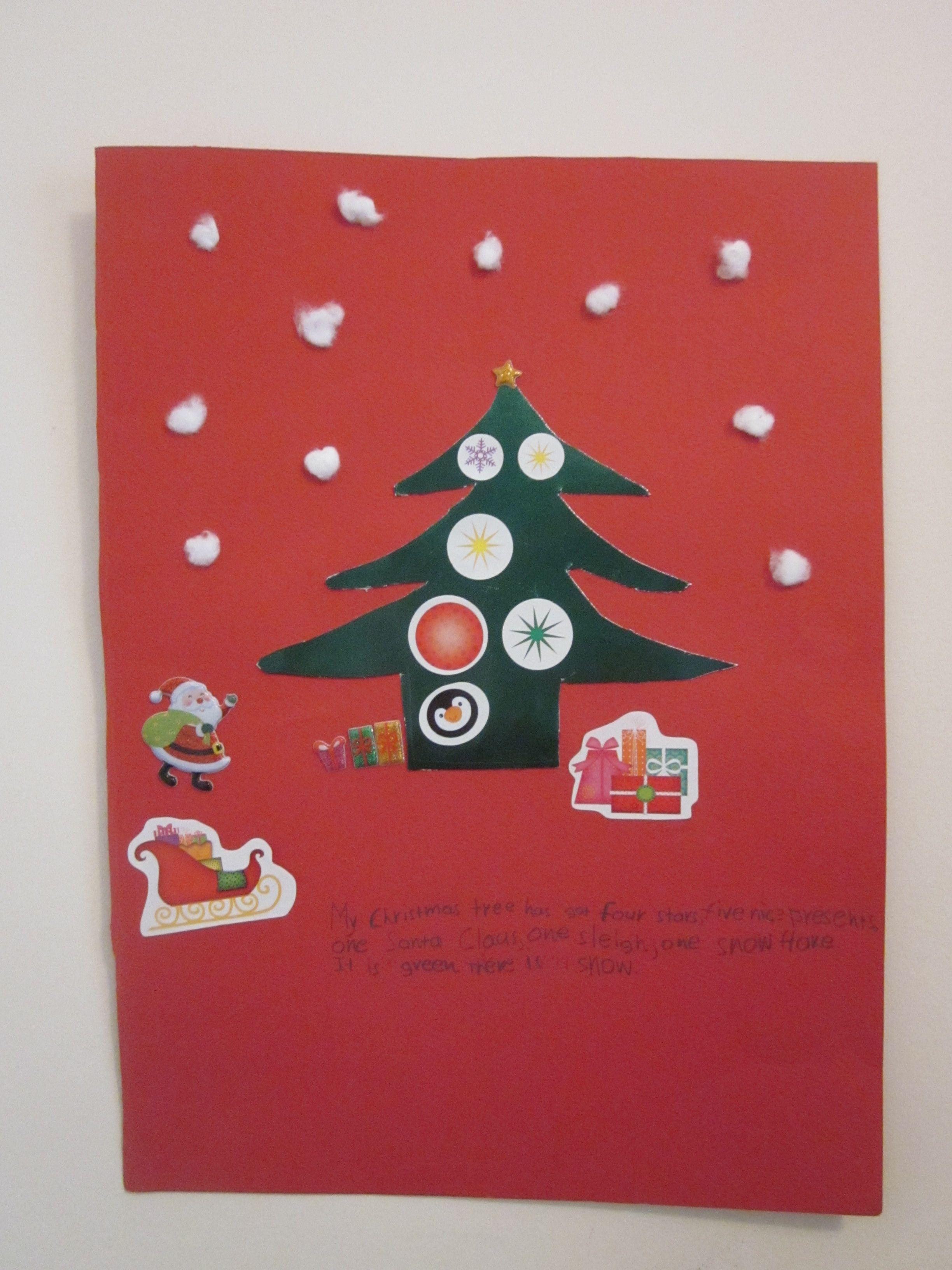 Student made Christmas card  Christmas cards, Christmas, Cards