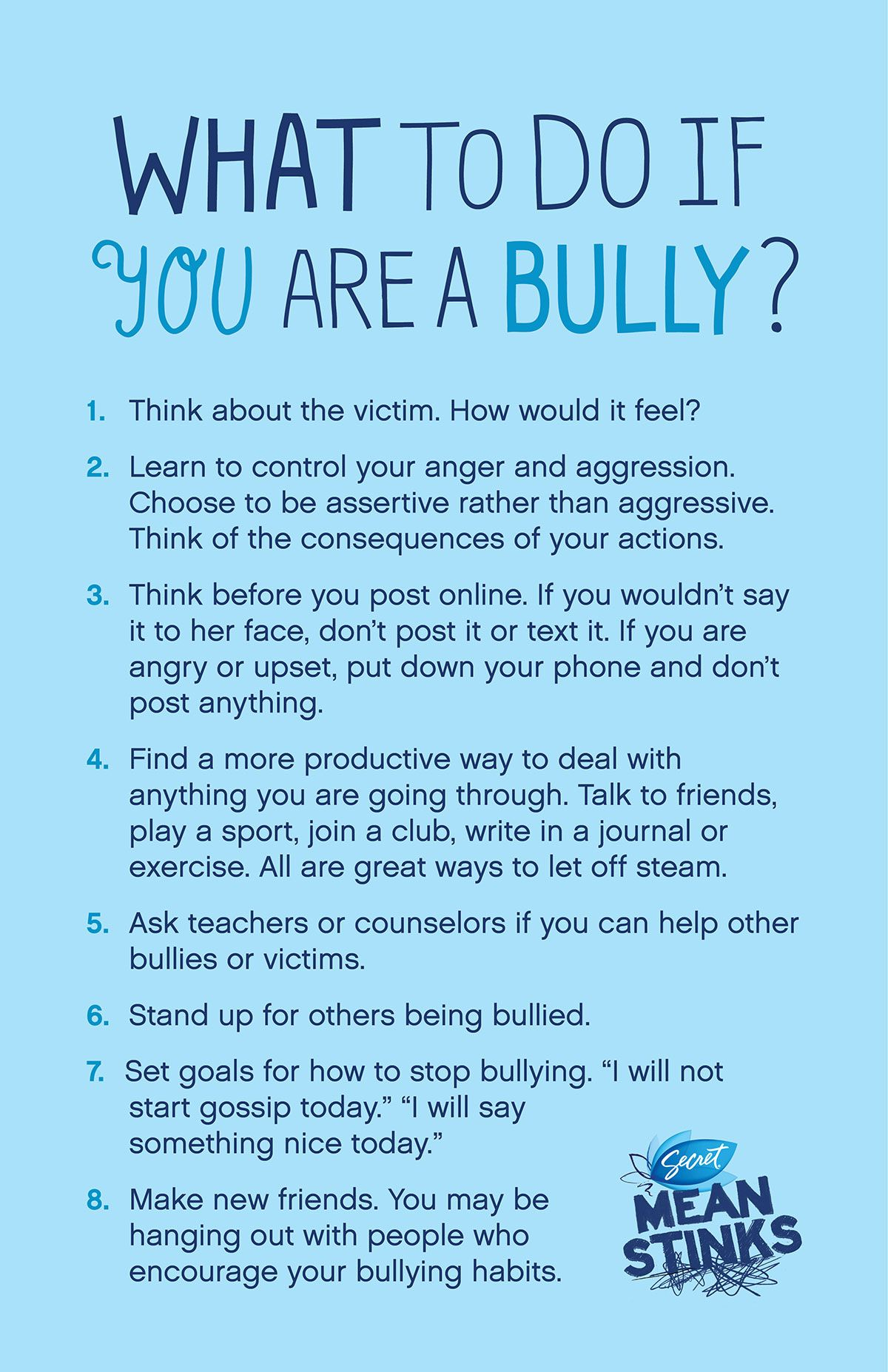 What To Do If You Are A Bully Bullying Pinterest Counselling