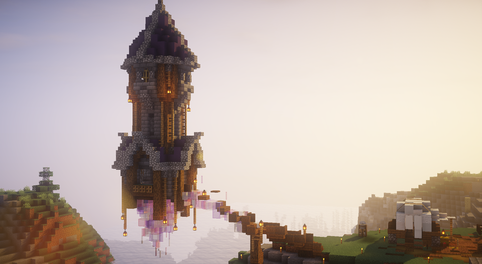 Floating Wizard Tower I Built In The Shopping Minecraft Reddit Minecraft Structures Amazing Minecraft Minecraft Houses