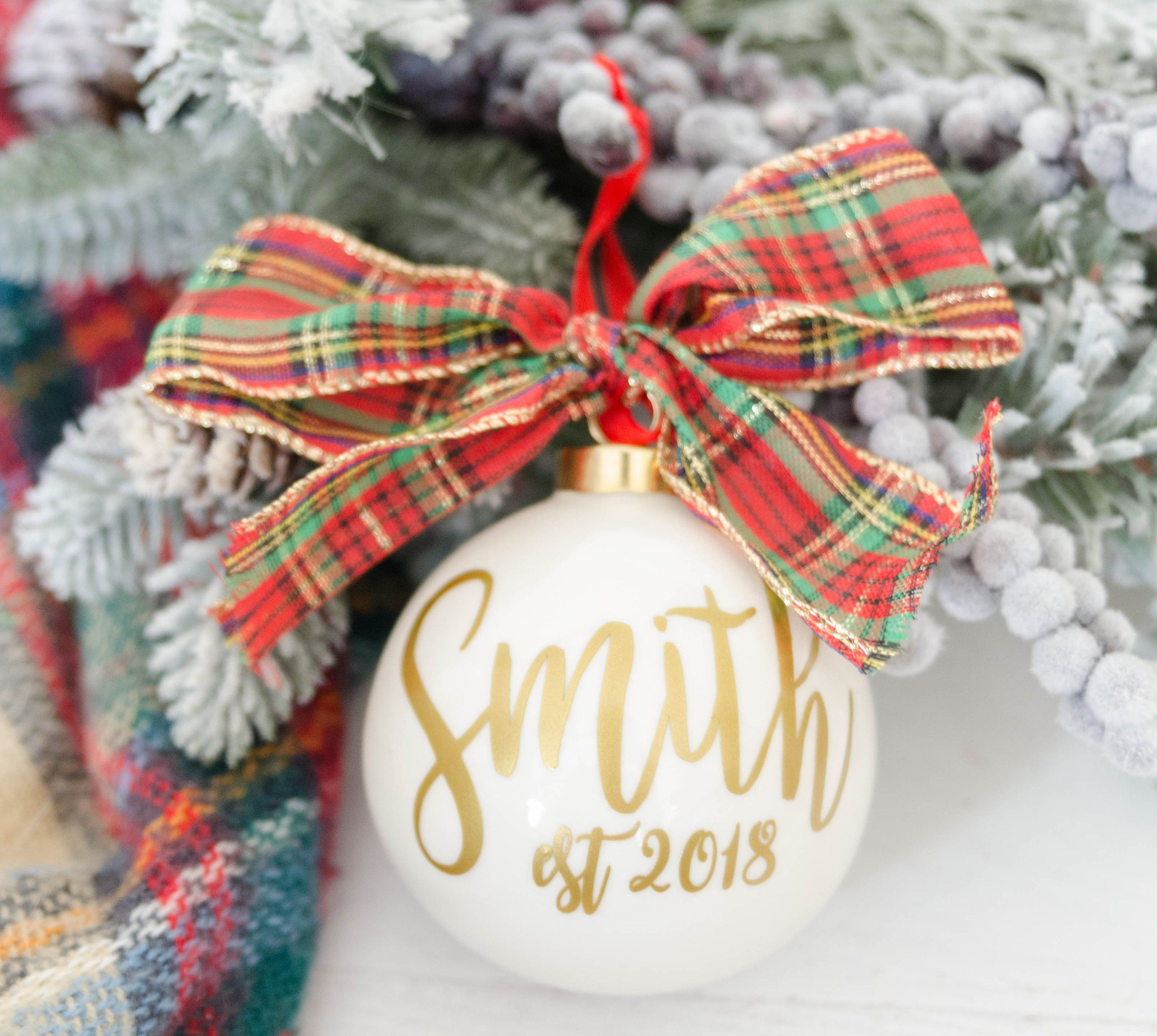 Personalized Ornament Holiday gift Holiday Ornament Etsy