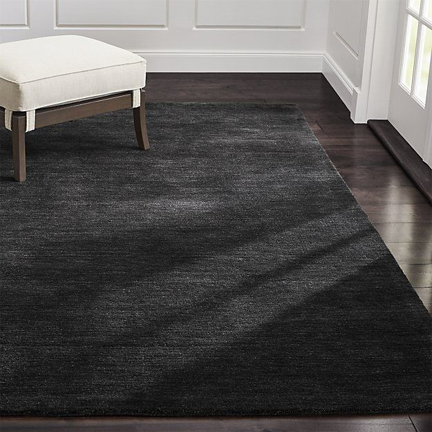 Baxter Carbon Grey Wool Rug