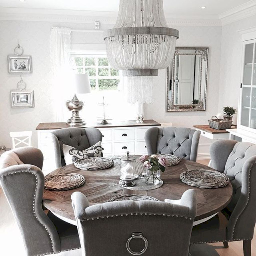 25 Elegant And Exquisite Gray Dining Room Ideas: 25 Modern Farmhouse Dining Room Makeover Decor Ideas