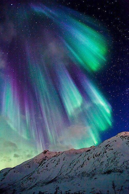 Aurora Borealis in northern Norway.