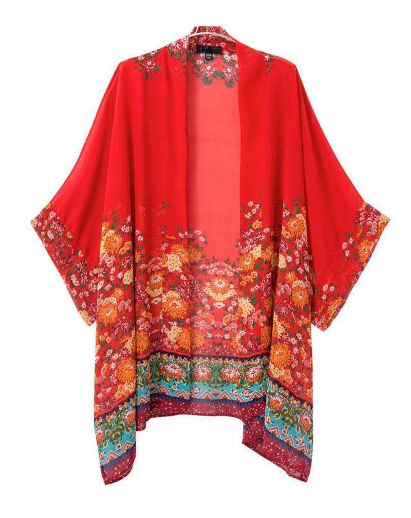 Red Floral Kimono | Kimonos, It is and So