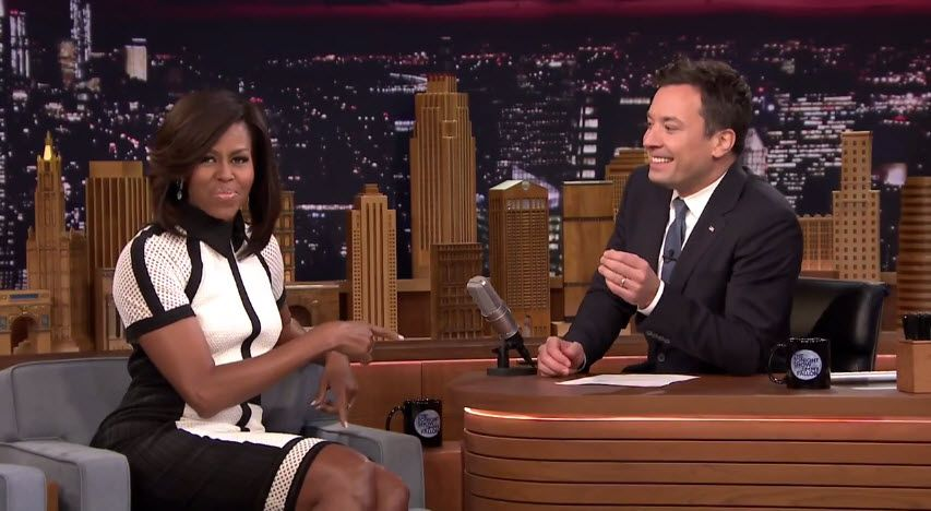 Michelle Obama talks Let's Move with Jimmy Fallon [Video]- http://getmybuzzup.com/wp-content/uploads/2015/04/Michelle-Obama-650x356.jpg- http://getmybuzzup.com/michelle-obama-talks-lets-move/- Michelle Obama talks Let's Move Michelle Obama talks to Jimmy about her teenage daughters' growing up and their attempt at explaining group texting to their father, President Obama. Find out more about The First Lady's health initiative, Let's Move!,...- #JimmyFa
