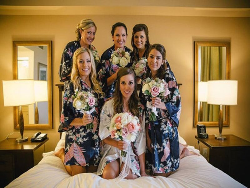 Silk Robes For Bridesmaids Satin Robes Bridesmaid Dressing Gowns For