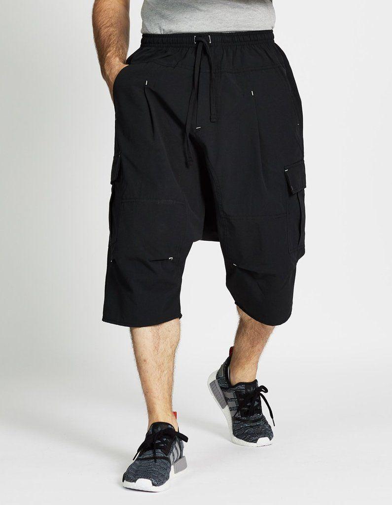 Dc Drop Crotch Cargo Shorts Sirwal In Black Sharp Dressed Man Drop Crotch Shorts Men Dress [ 1024 x 795 Pixel ]