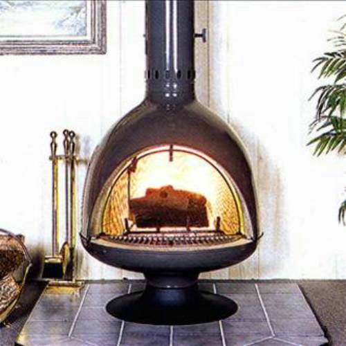Malm Fireplaces FD3 Fire Drum 3 Freestanding Woodburning Fireplace .
