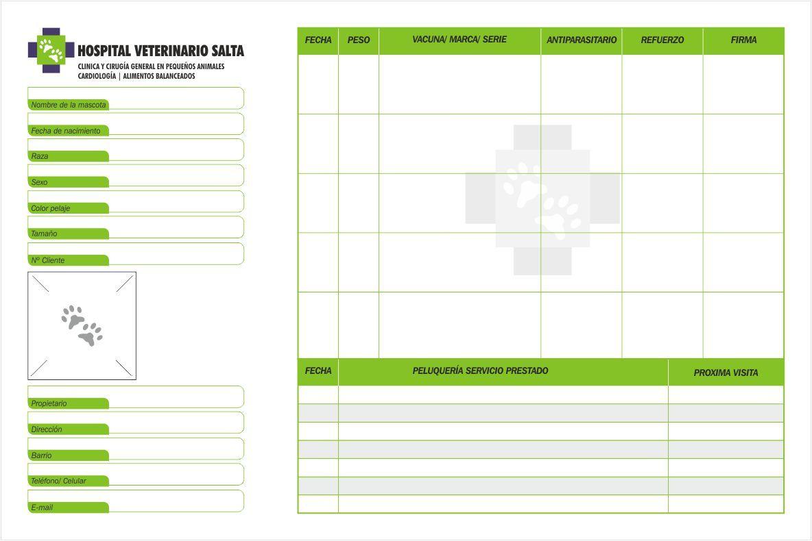 diseño carnet de salud veterinario - Buscar con Google   diseño ...