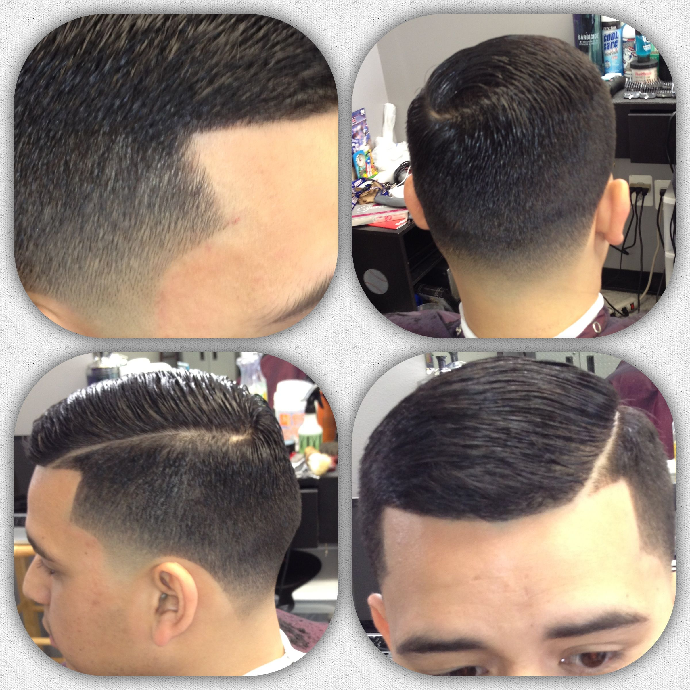 Looks - Over comb haircut fade photo video