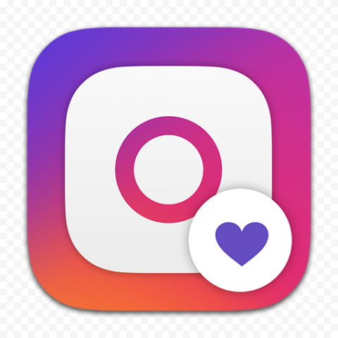 Instagram Square Logo With Like Heart Icon App Instagram Square Square Logo Heart Icons