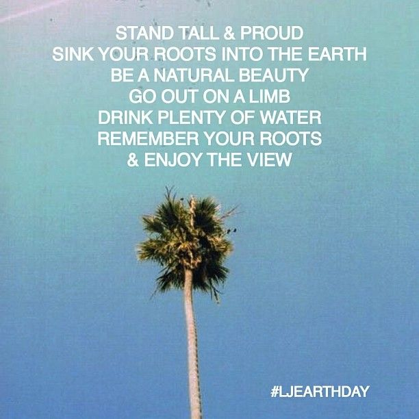 Stand tall & proud #EarthDay