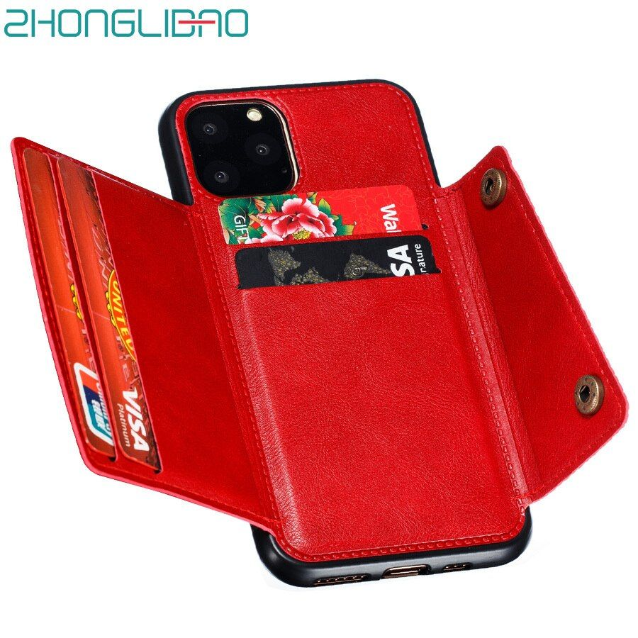 Card case for iphone xr 11 pro max coque wallet phone case