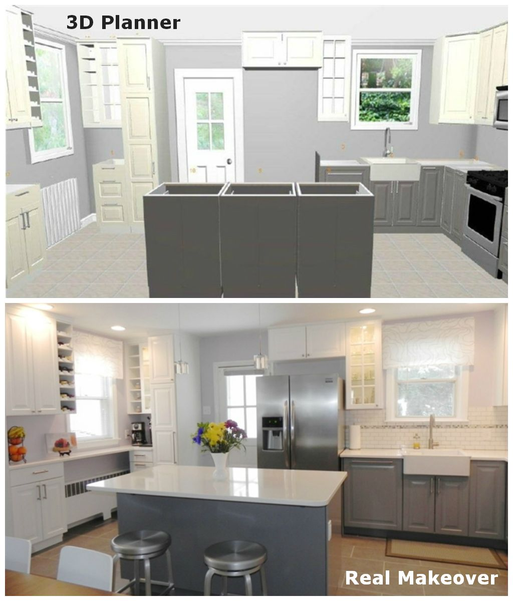 This ikea blogger created her dream kitchen in ikea 3d for What are ikea kitchen cabinets made of