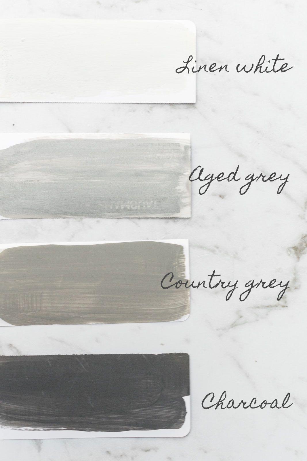 White Grey Rust Oleum Chalked Paint