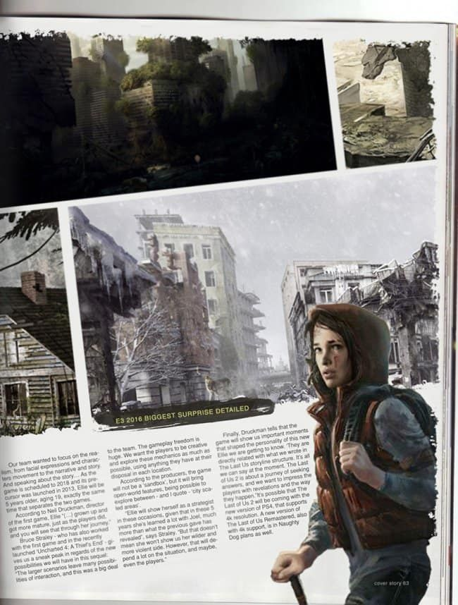 The Last Of Us Part 2 Screenshot Interesting Leak From A Magazine Interview A Few Months Back Take The Last Of Us Video Game Magazines Video Game Heaven