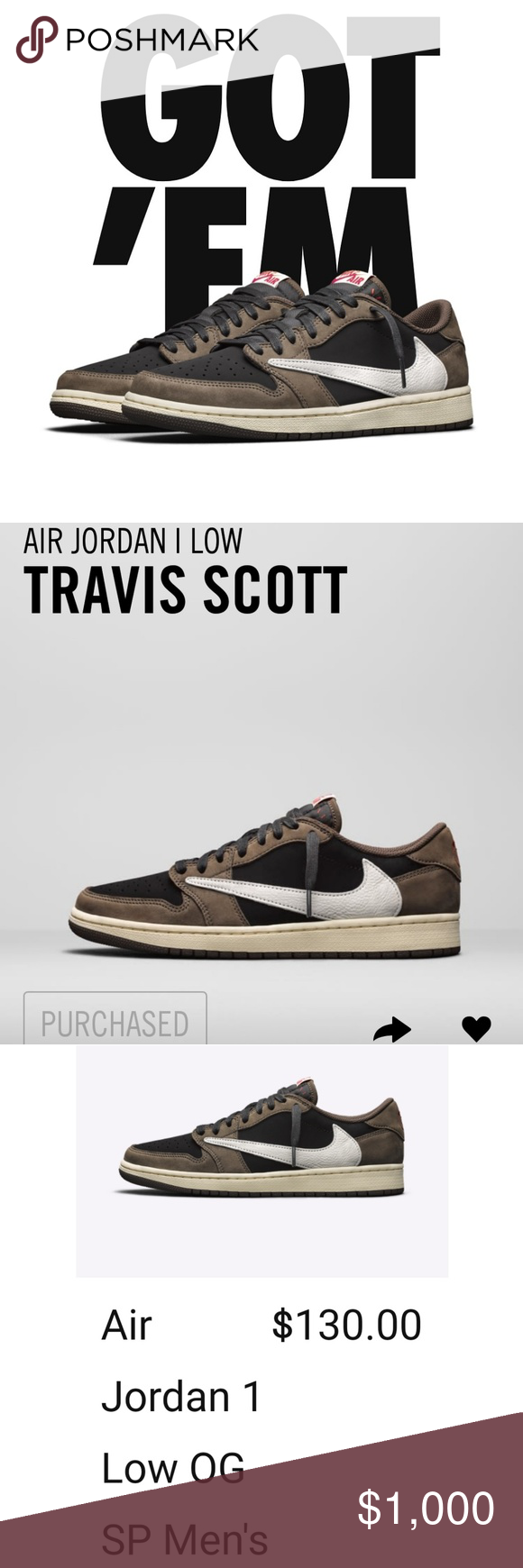 Travis Scott Jordan 1 Low New tried for the highs but we