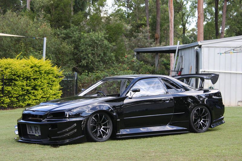 Black R34 Godzirra   9K Racing · Nissan Skyline GtSkyline Gtr ...