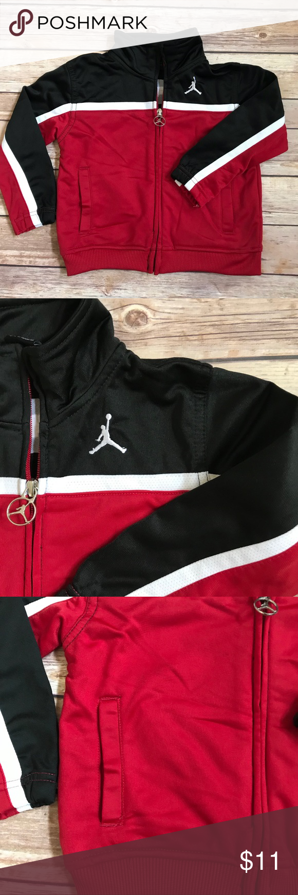 6f55b2a139ca1d Toddler Boys Michael Jordan Track Jacket 24 Month Jordan Zippered Track  Jacket Toddler Size 24 Months Gently Loved Jackets   Coats