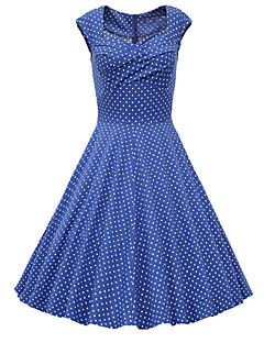 4dc2142e40eb Women s Daily   Going out Vintage   Street chic A Line Dress - Polka ...