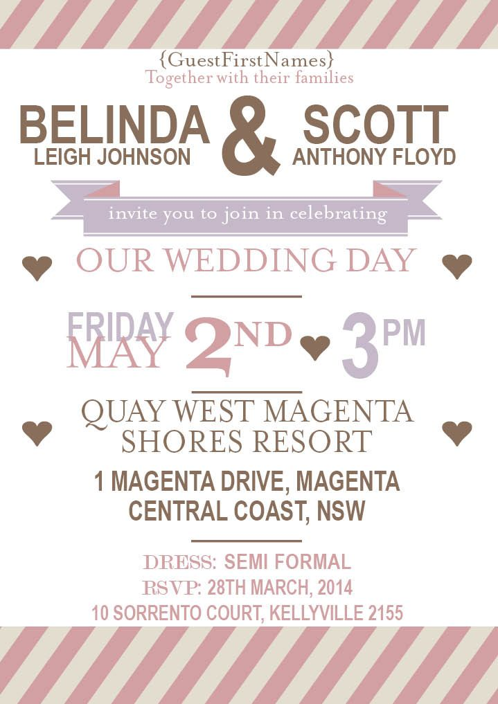 Della Typography Wedding Invitations | Ads...yay or nay? | Pinterest ...