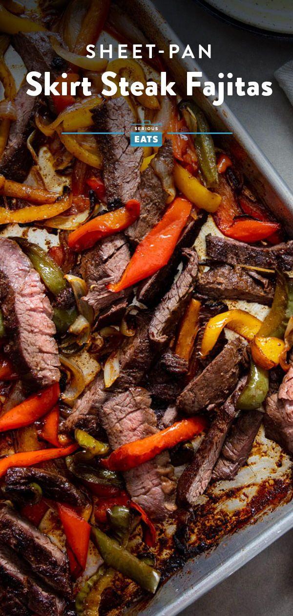 Sheet-Pan Skirt Steak Fajitas