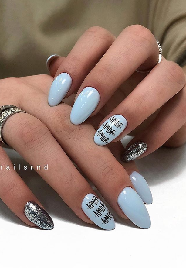 56 Lovely Acrylic Almond Shaped Nails To Inspire You This Summer Page 35 Of 55 Latest Fashion Trends For Woman In 2020 Almond Nails Designs Summer Almond Acrylic Nails Almond Shape Nails