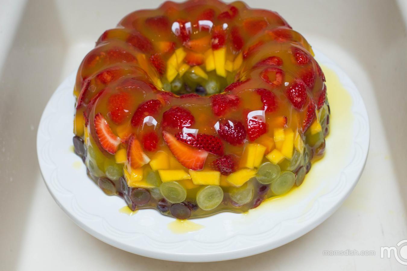 Jello Fruit Cake Dessert Mom S Dish Food Dessert Yes Please