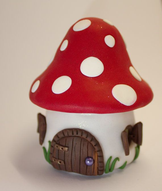 Tooth Fairy Mushroom Tooth Pot Red Trinket Box Mushroom House with a Personalised Letter from Tooth Fairy #toothfairyideas
