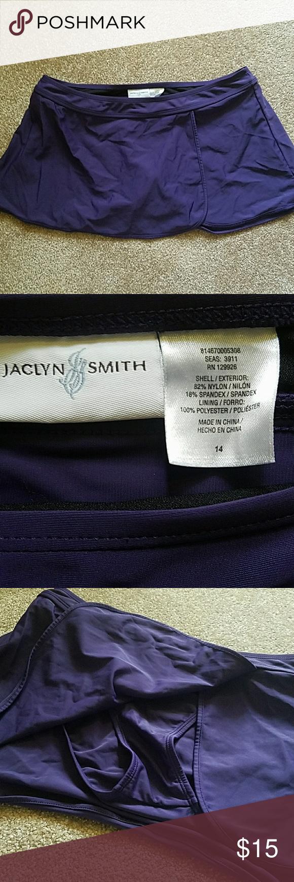 Purple swim skirt Waistband measures approximately 32 ...