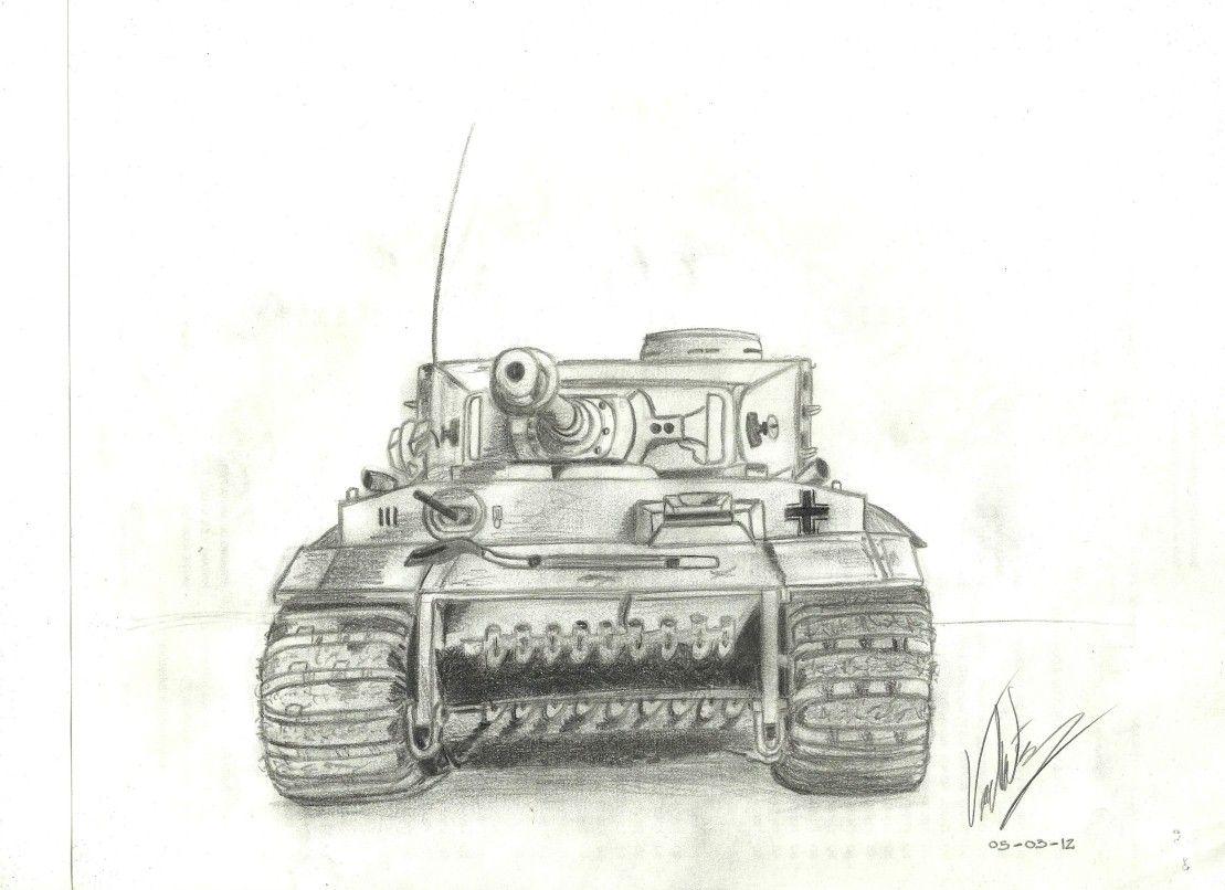 картинки танк тигр карандашом начала решил