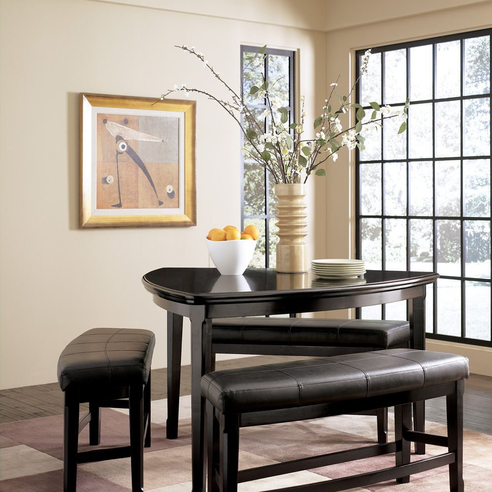 Ariana S Table Ashley Emory 4pc Triangle Counter Height Table Dining Set D569 23 024 Counter Height Dining Room Tables Ashley Furniture Furniture